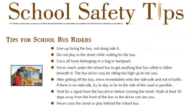 school bus safety essays